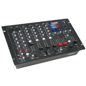 "Citronic CDM10:4 MKV 4-Channel DJ 19"" Rack Mixer + 4 Mic Inputs + 2 x USB + EQ"